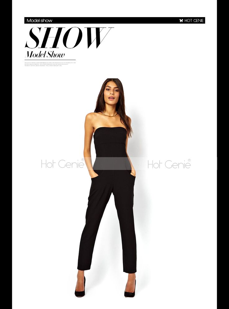 Aliexpress.com : Buy 2015 Promotion Sexy Sleevess Tube Top Black Jumpsuit Summer Women Bodycon Romper With Pocket Ladies Casual Clothing from Reliable jumpsuits designer suppliers on Hot Genie Authentic Brand Shop | Alibaba Group