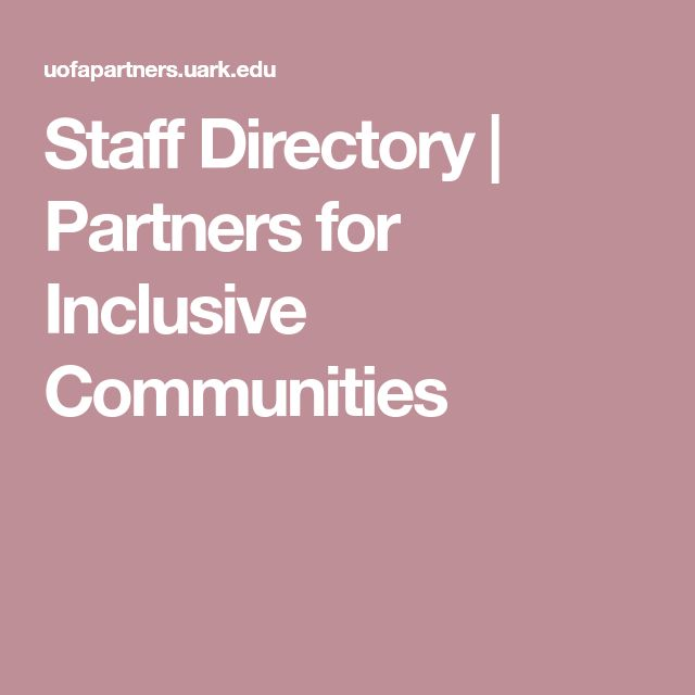 Staff Directory | Partners for Inclusive Communities