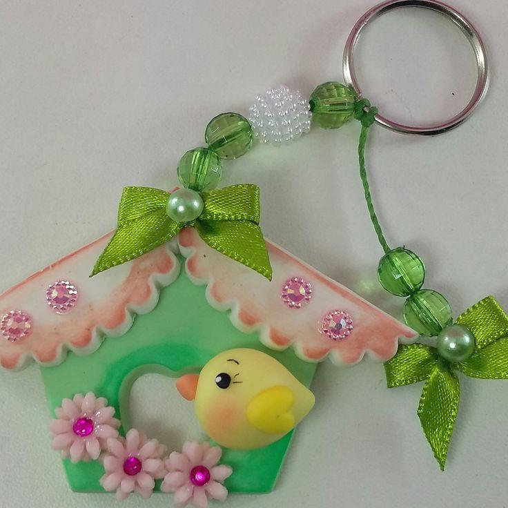 Resultado de imagem para casa de passarinho de biscuit