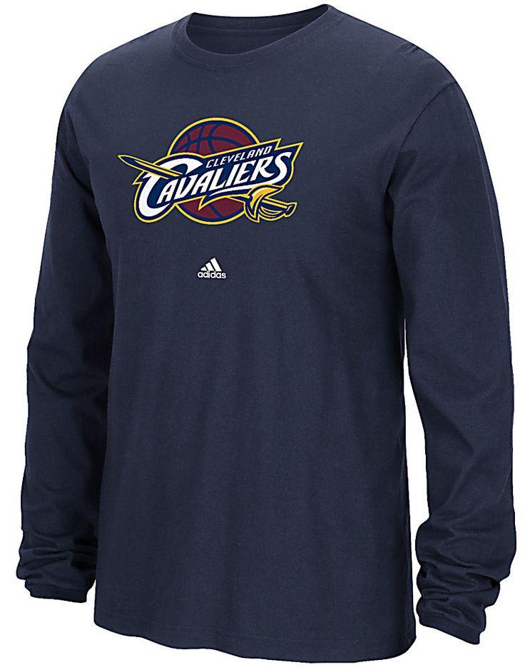 Cleveland Cavaliers Navy Adidas Primary Logo Long Sleeve T Shirt  $27.95