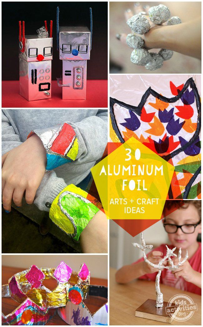 30 Aluminum Foil Crafts and Art Activities – everyday frugal fun!