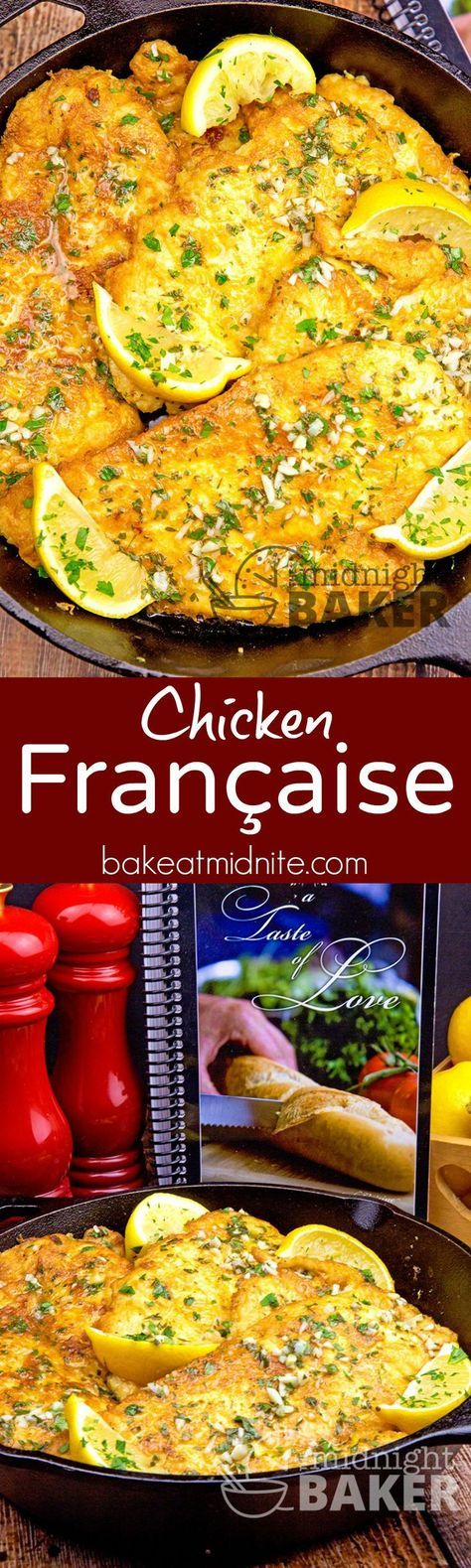 This delicious chicken francaise recipe comes from one of the best Italian cooks I've ever met and is from her new cookbook,
