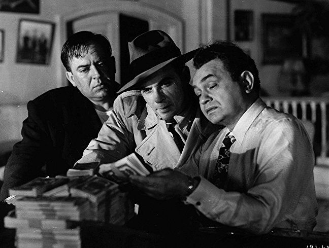 Edward G. Robinson, Thomas Gomez, and Marc Lawrence in Key Largo (1948)