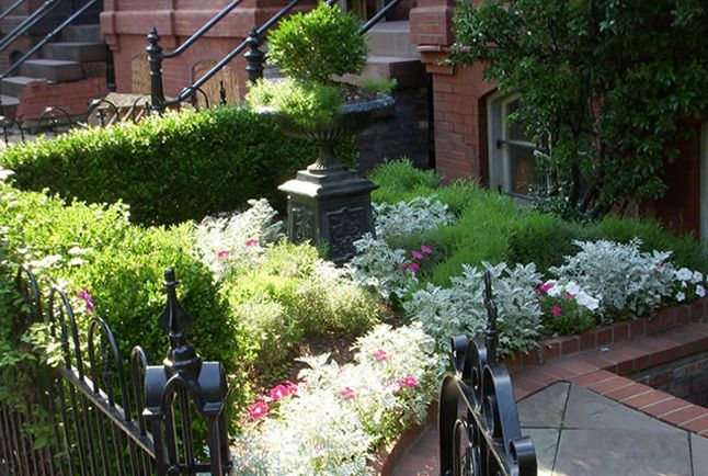 20 best images about front yard gardens on pinterest for Row house garden design