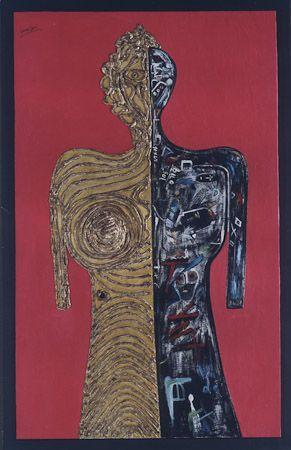 Metamorphosis Foam, oil, acrylic, pigments on canvas, 2000, 230x130 cm