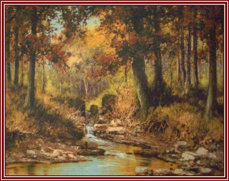 Laszlo Neogrady - Ruisseau de la forêt d'automne.
