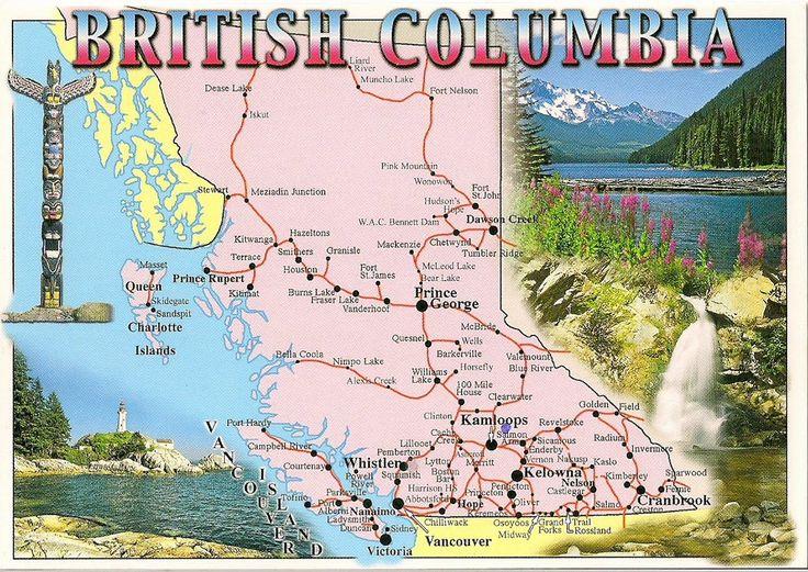 Travels with postcards around the world: BRITISH COLUMBIA