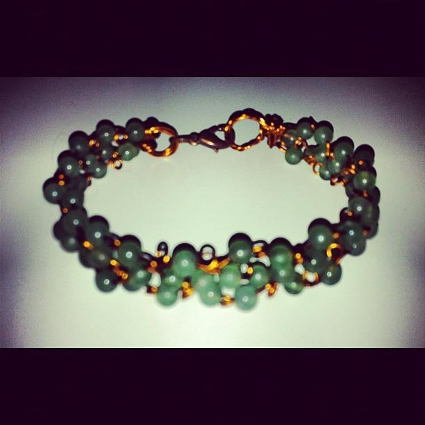 Self made handwoven Jade bracelet