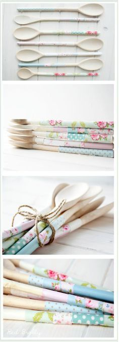 Upcycle:: Old wooden spoons into pretty ones