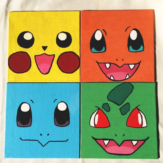 Pokemon panel painting by Nerdyshop on Etsy