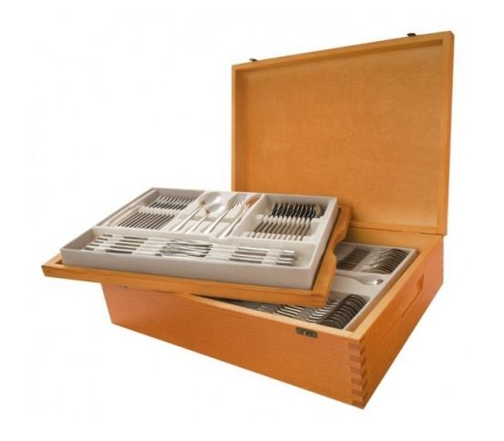 Sztućce GERLACH Valor 58CP - 68 szt. dla 12 osób w skrzyni. pomysł na prezent…