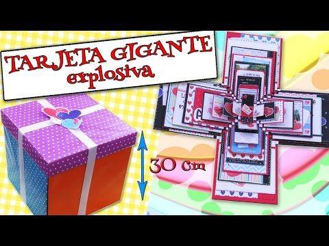 TARJETA GIGANTE Explosiva - AMOR, Felicitaciones, DÍAS ESPECIALES - YouTube
