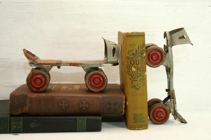 Vintage steel roller skates keyless home decor for Home decor survivor 6