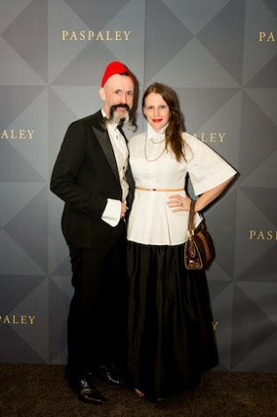 Gwendolynne Burkin and Richard Nylon at the Paspaley Pearl launch Stokehouse city, Melbourne