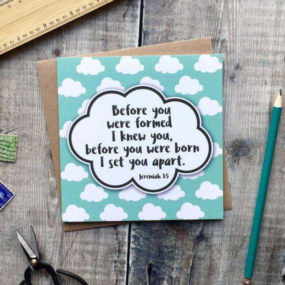 Before You Were Formed I Knew You Card  New Baby Card