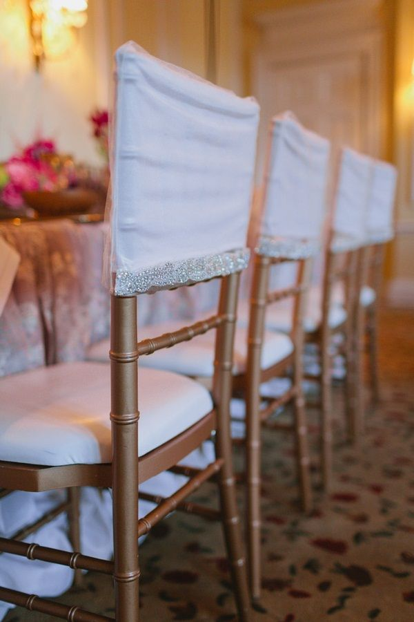 Fitted seat backs for #Chiavari chairs #wedding    Photo: www.janiceyiphotography.ca    Wedding Planner: www.traceymevents.ca Featured on: Wedding Obsession Wedding Blog http://www.weddingobsession.com/2014/01/29/luxurious-mexico-inspired-style-shoot/