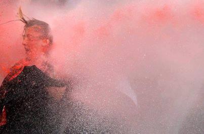 Via Diren Gezi Parkı A woman is attacked by a water cannon in Ankara on June 16  #direntürkiye #occupygezi #direngeziparkı