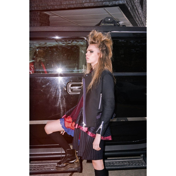 Cara Delevingne Dons Rocker Chic Style for The Journal #32 by Hugh... ❤ liked on Polyvore