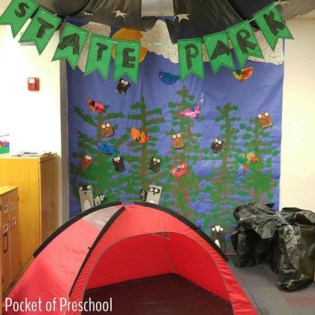 Camping dramatic play theme where kids learn through PLAY!