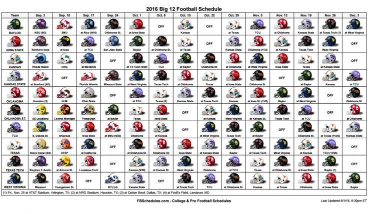 BIG 12 Football Helmet Schedule.PNG