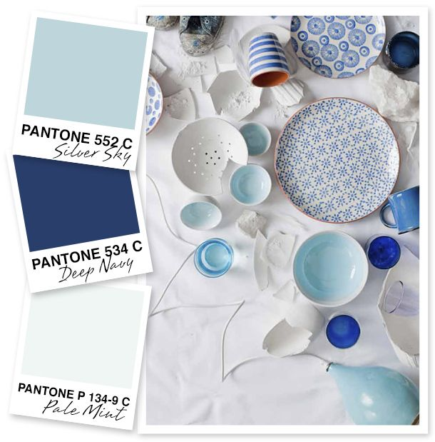 Sky, Navy and Pale Mint Color Palette by Sarah Hearts