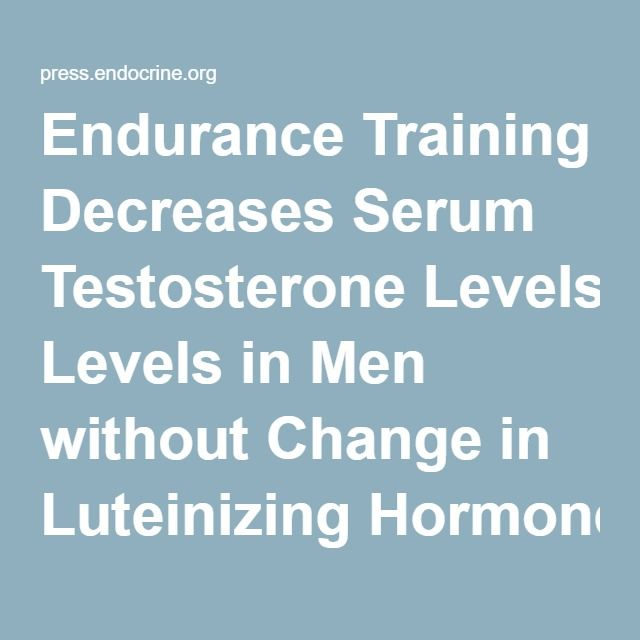 Endurance Training Decreases Serum Testosterone Levels in Men without Change in Luteinizing Hormone Pulsatile Release: The Journal of Clinical Endocrinology & Metabolism: Vol 72, No 2