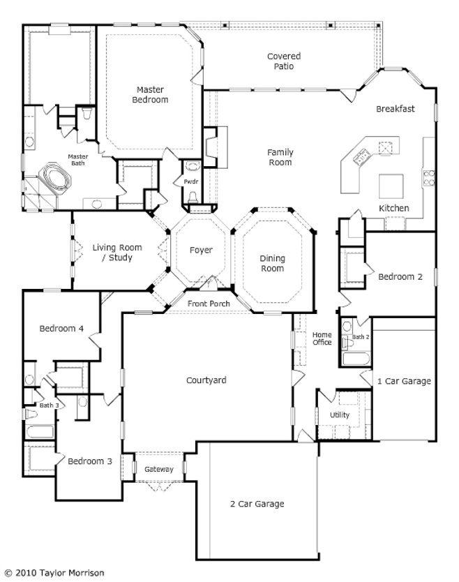 Taylor Morrison Torino Plan Courtyard House Plans House