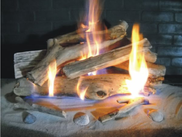 Ceramic Gas Fireplace Logs | California Customs - Hand Crafted Custom Built Fireplace Doors