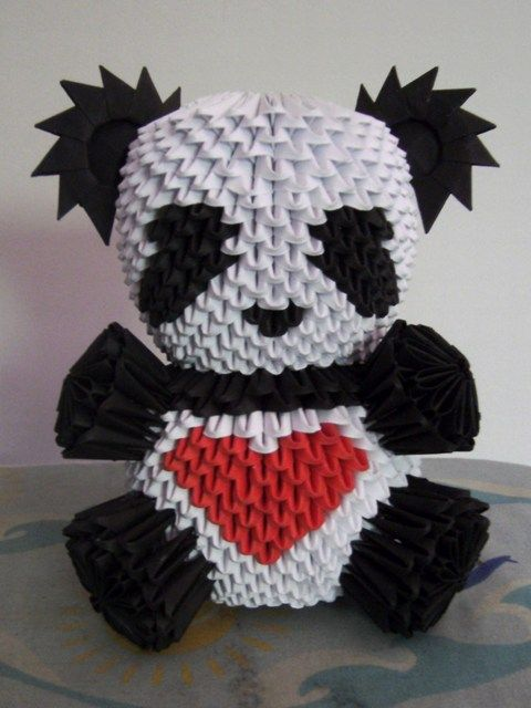 3D Origami Panda again by ~OneLoneTree on deviantART