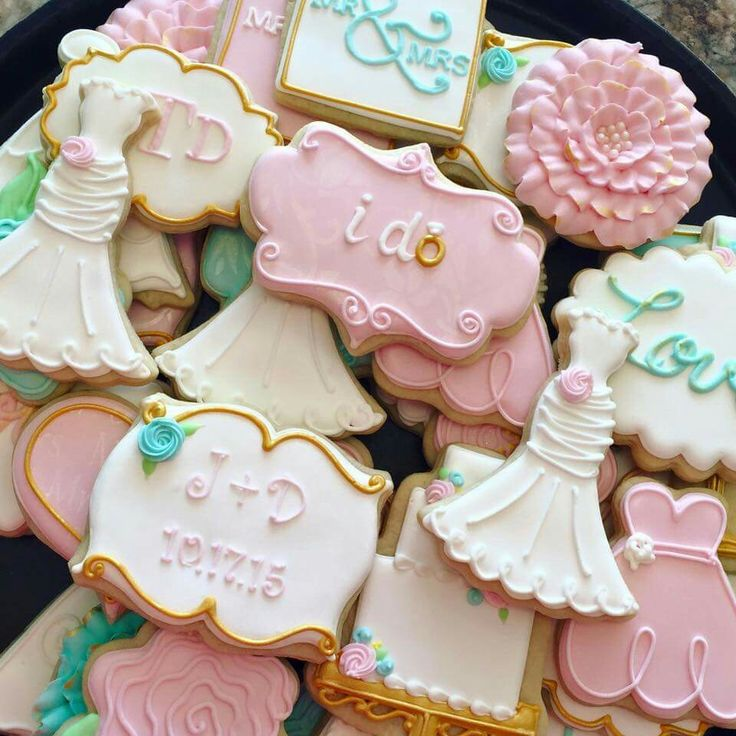 1296 Best Wedding Shower Cookies Images On Pinterest