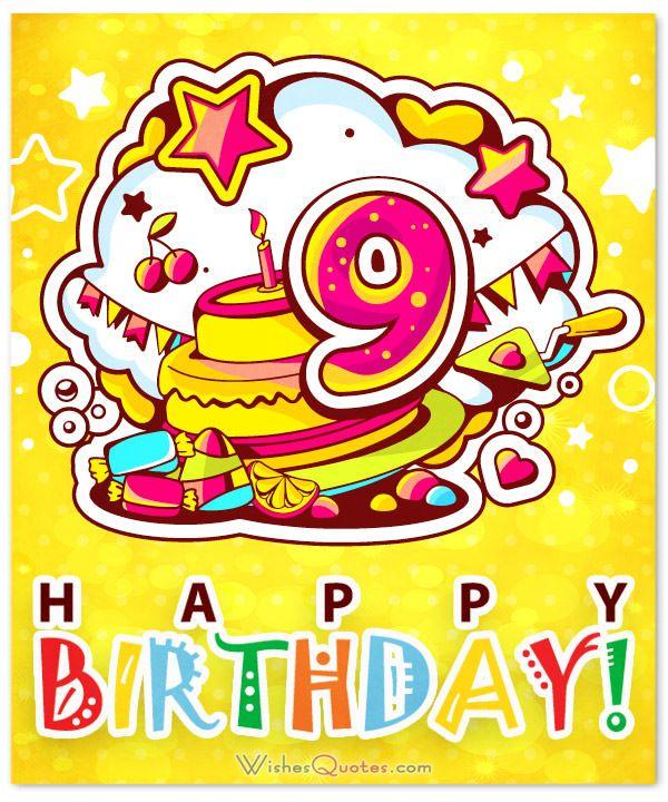 9th Birthday Wishes Birthday Wishes Girl Birthday