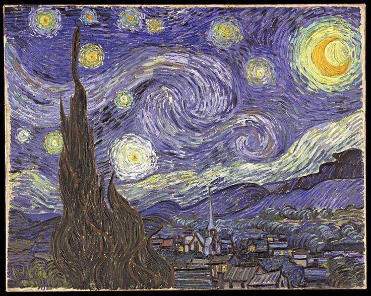"""...Το Νηπιαγωγείο μ' αρέσει πιο πολύ.: """" Η Έναστρη Νύχτα"""" του Βίνσεντ βαν Γκογκ και οι γλυκιές φάσεις της σελήνης."""