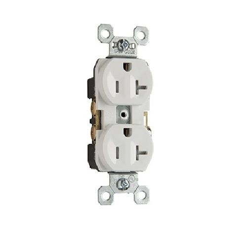 Pass & Seymour - TR20W - 20 Amp - White - Tamper Resistant - Commercial Grade Receptacle