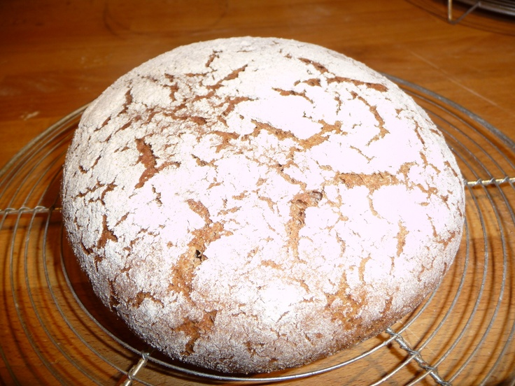 Walliser Roggenbrot, a sourdough all-rye bread from the mountains of the Valais in Switzerland
