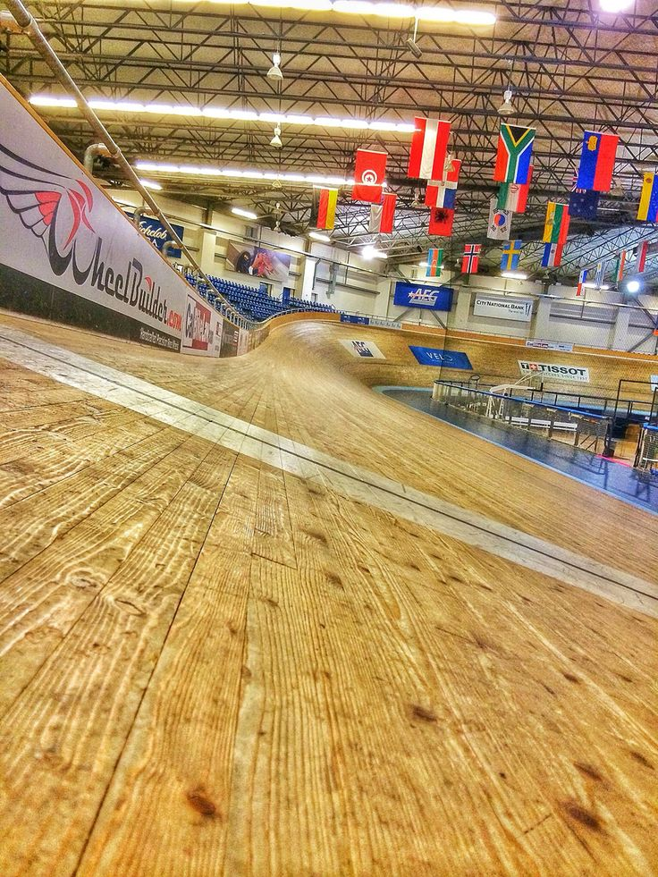 View from the velodrome track