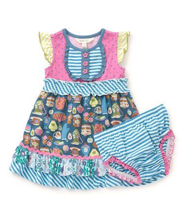 f7851873b7ab4 Look what I found on #zulily! Blue Little Sweetie Dress - Infant ...