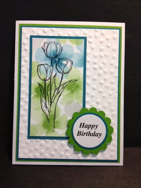 Wanda Pettijohn: My Creative Corner!: A Blessed Easter Birthday Card - 2/25/14 (watercolor dsp)