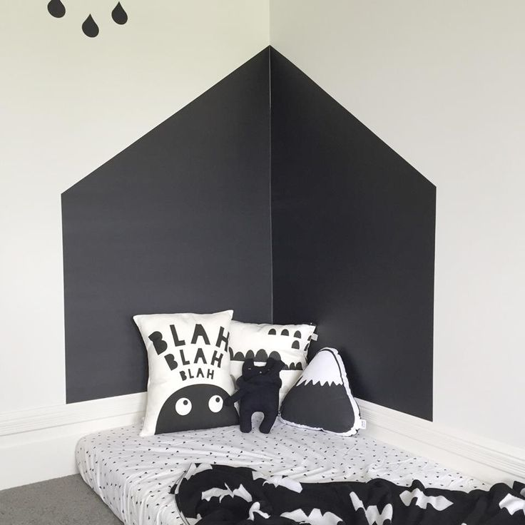 Solid black BC Magic Wallpaper - Styled by Kids Suite @victoriahalford