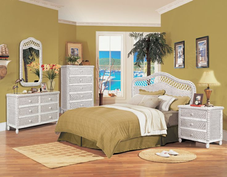 The White Santa Cruz Bedroom Group From Seawinds Trading