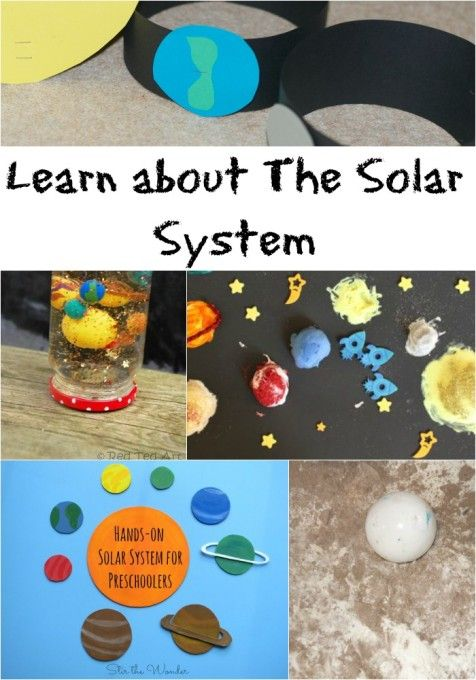 Fun crafts and activities to learn about The Solar System
