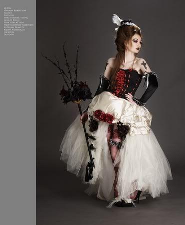 Vestido de novia gótica