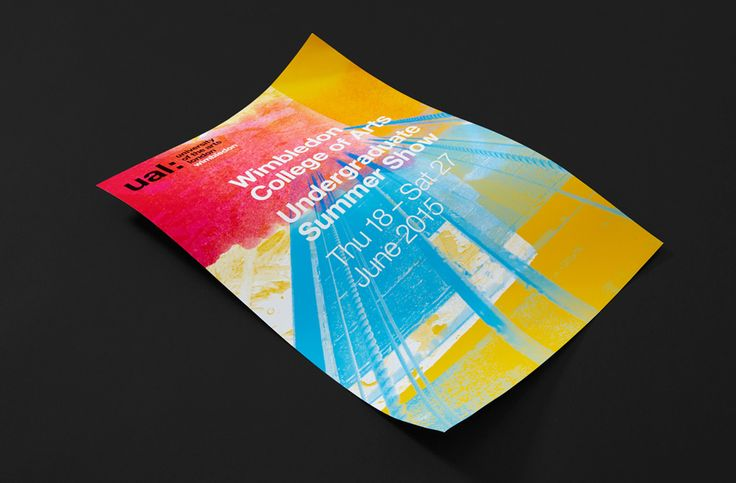 Poster for the University of the Arts London 2015 recruitment campaign designed by Spy