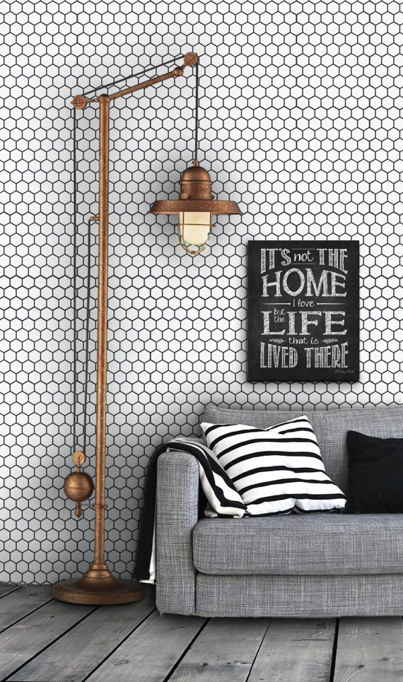 Honeycomb Pattern Self Adhesive Vinyl Wallpaper D203