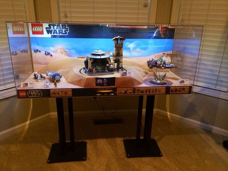 LEGO STAR WARS ULTRA RARE 3 SET Display, sets: 9490-9516-9496, with LED Lights, Awesome Holiday gift!
