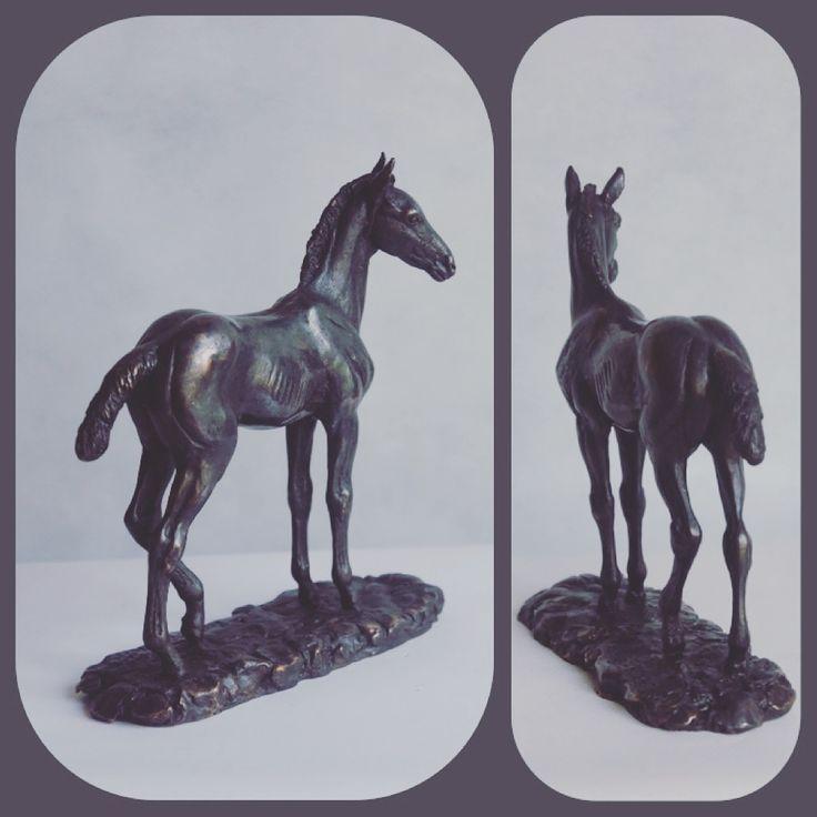 "Жеребёнок ""Ахалтекинчик"". 2016. Бронза. #horse #horseart  #equine #equineart # ahalteke #sculpture"