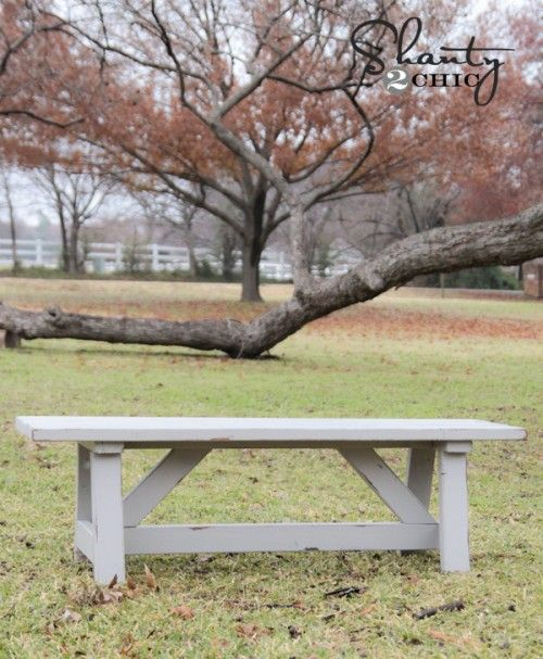 DIY Outdoor Wood Bench: $15 to make this, not bad...
