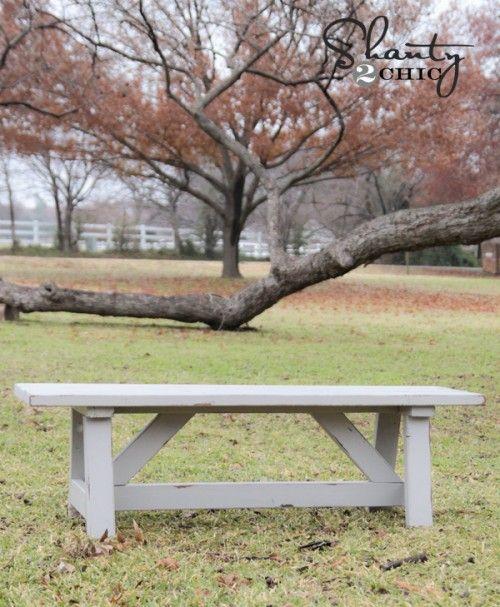 DIY $15 Outdoor Bench