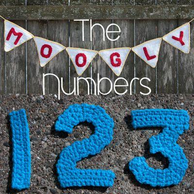 The Moogly Crochet Numbers,  free pattern by Tamara Kelly.