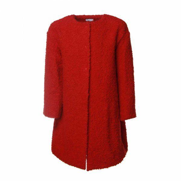 Redingotte rosso rubino della linea di abbigliamento Bambina firmata Monnalisa Girl. #Monnalisa #annameglio #cappotto #redingotte #fashionbaby