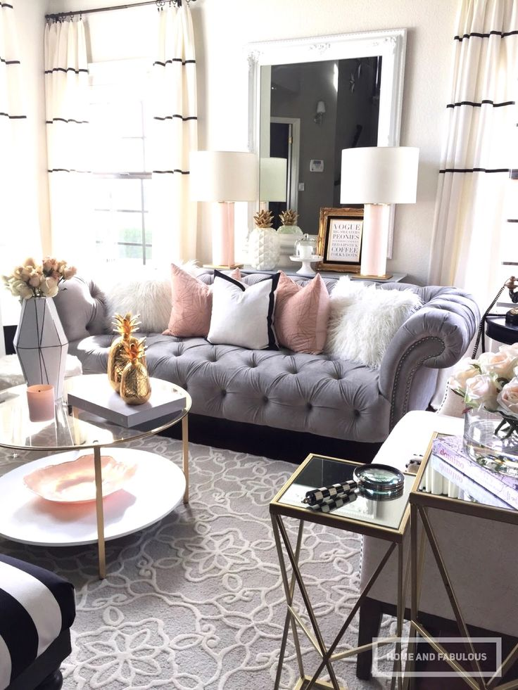 How One Couch Inspired a Living Room Transformation. 15 Must see Living Room Inspiration Pins   Lounge decor  Copper